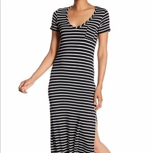 Stripe knit maxi dress